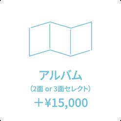 アルバム (2面 or 3面セレクト) +¥15,000