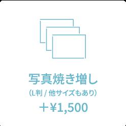 写真焼き増し (L判 / 他サイズもあり) +¥1,620